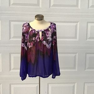 Jennifer Lopez long sleeve blouse Sz L